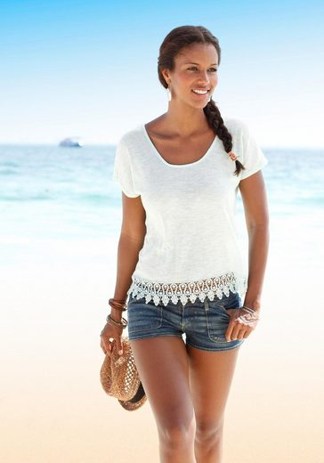 Lascana Beach Pullover With Lace