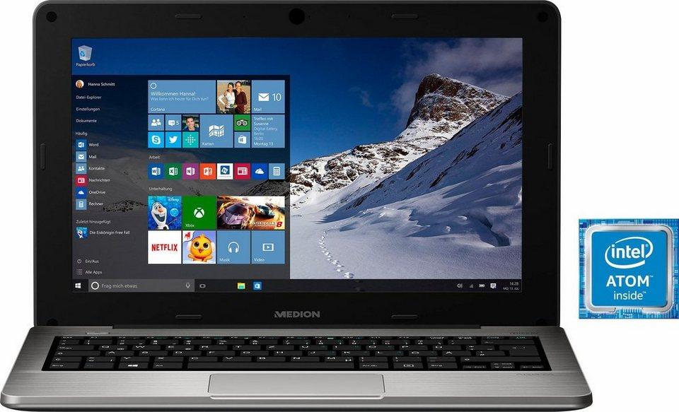 Medion® S2217 Notebook, Intel® Atom™, 29,4 cm (11,6 Zoll), 64 GB Speicher, 2048 MB DDR3L in silberfarben