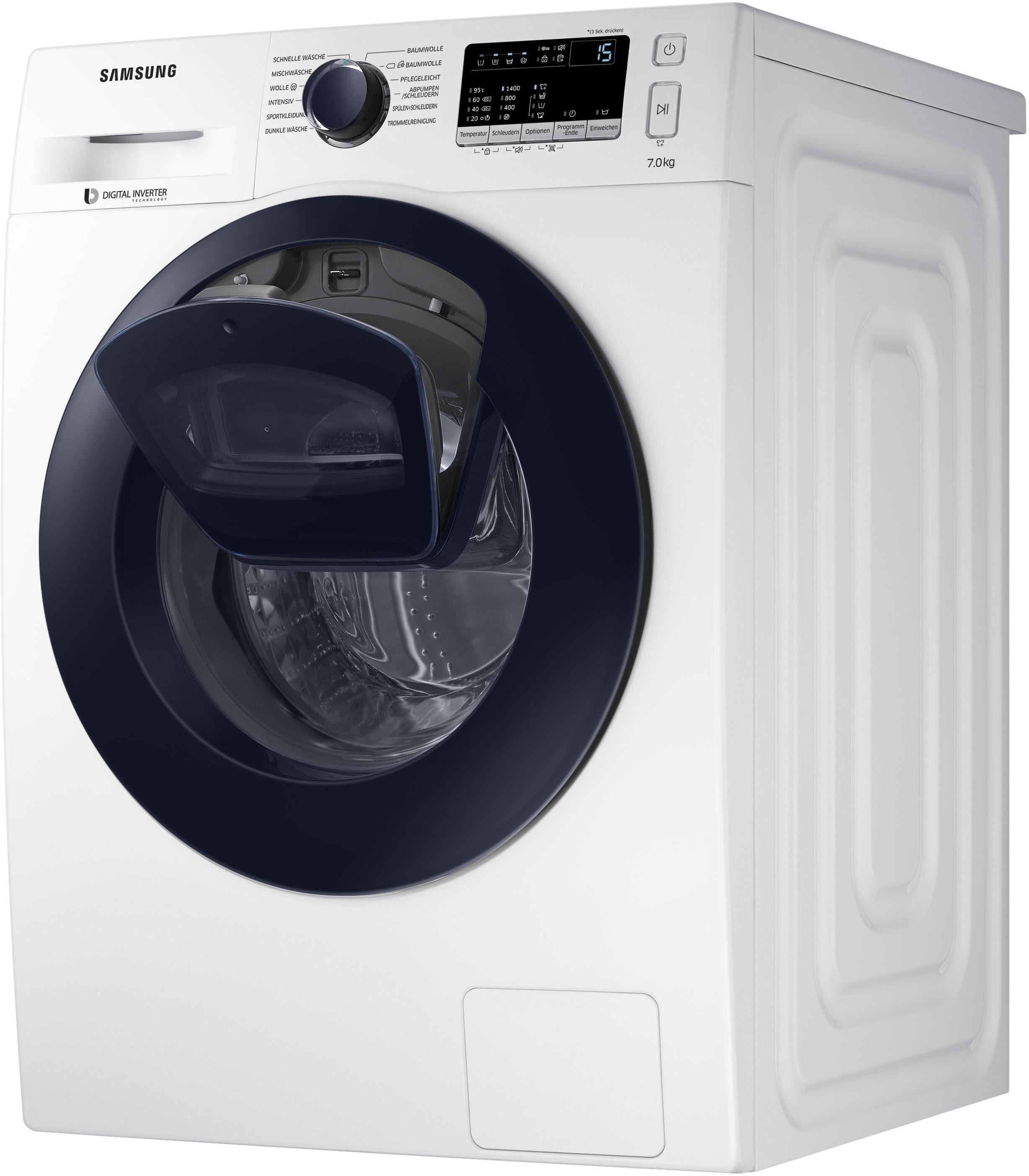 Samsung Waschmaschine WW4500 WW70K44205W/EG, 7 kg, 1400 U/Min, AddWash