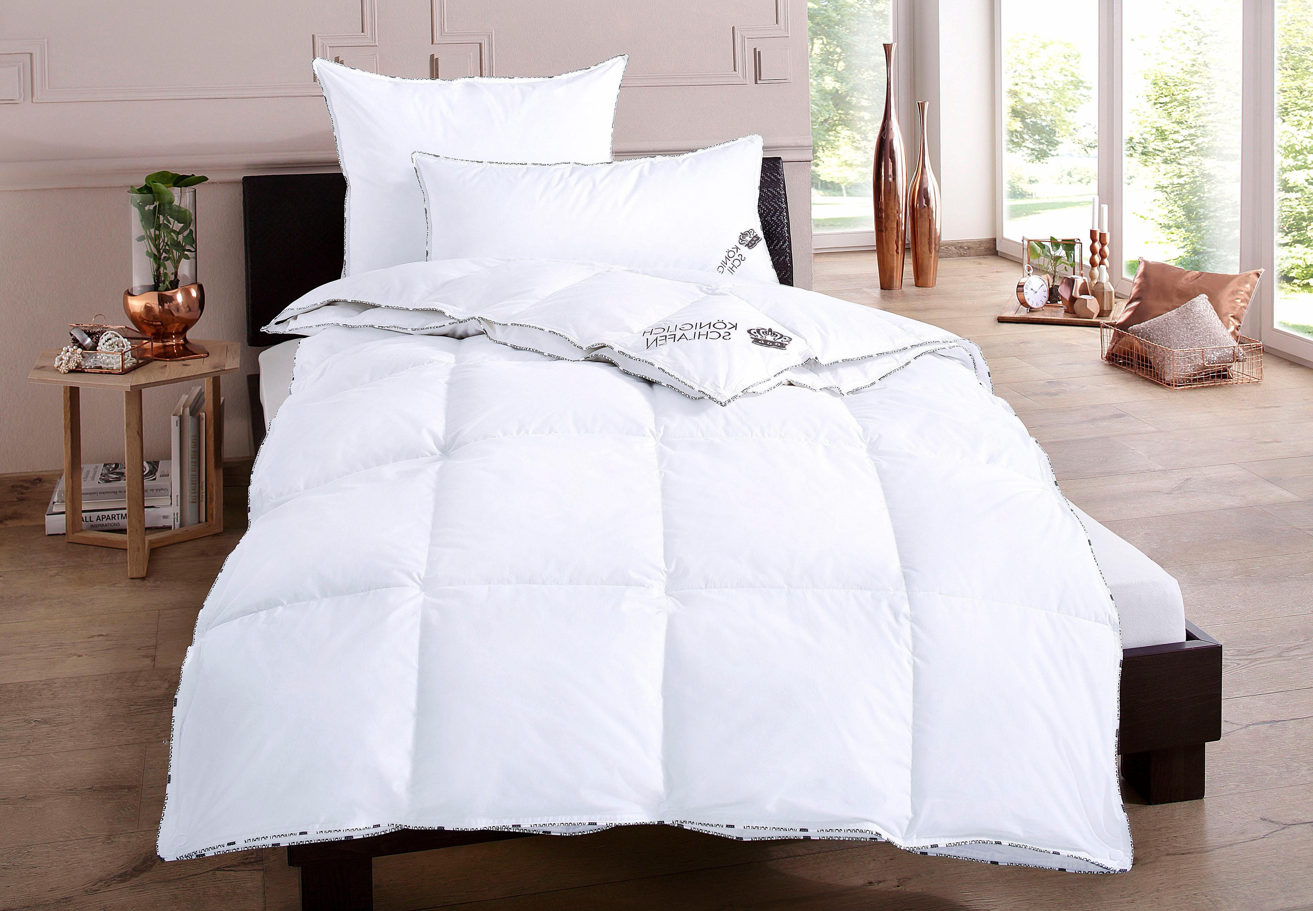 Set: 4-Jahreszeiten-Bettdecken + Kopfkissen my home Königlich Schlafen, 4-Jahreszeiten