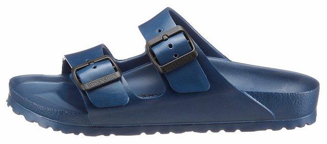 Damen Birkenstock ARIZONA EVA Pantolette in Schuhweite schmal mit verstellbaren Schnallen blau | 04052001424732