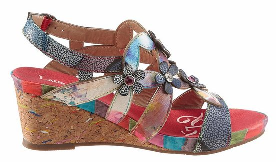Laura Vita Sandalette, With Beautiful Flower-deco
