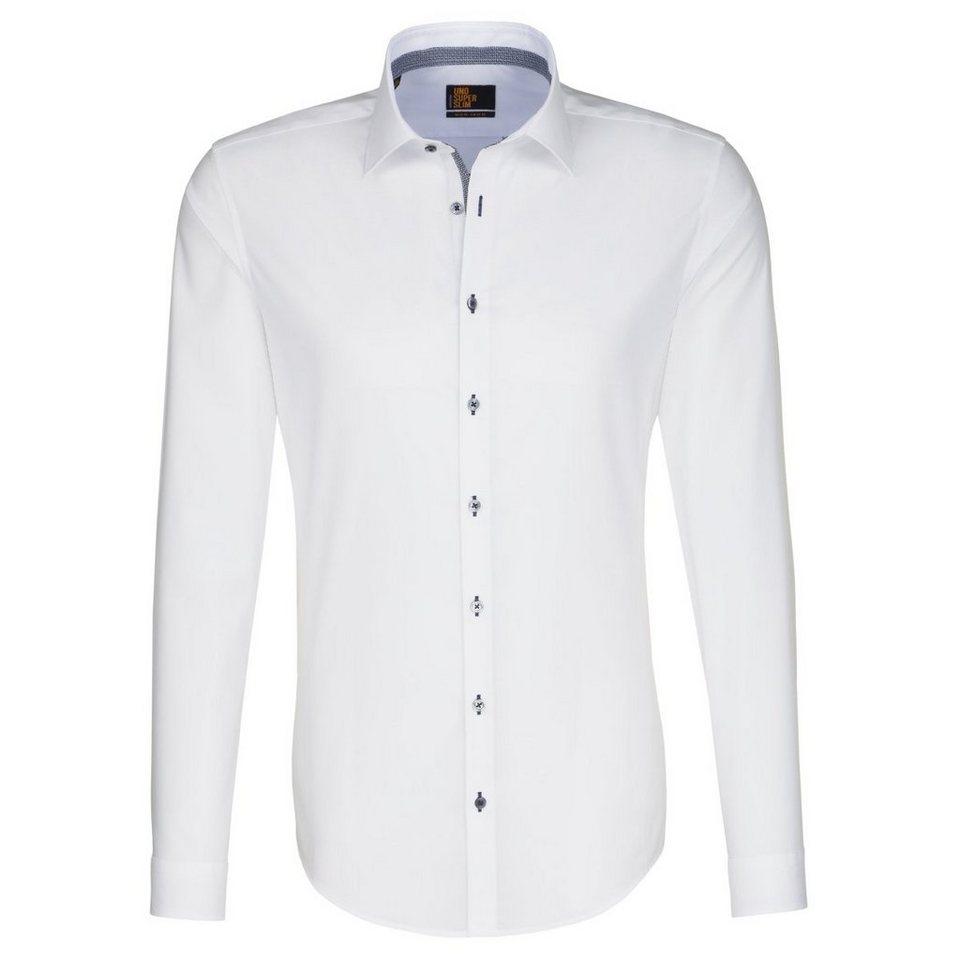 SEIDENSTICKER Businesshemd »UNO SUPER SLIM« in weiß