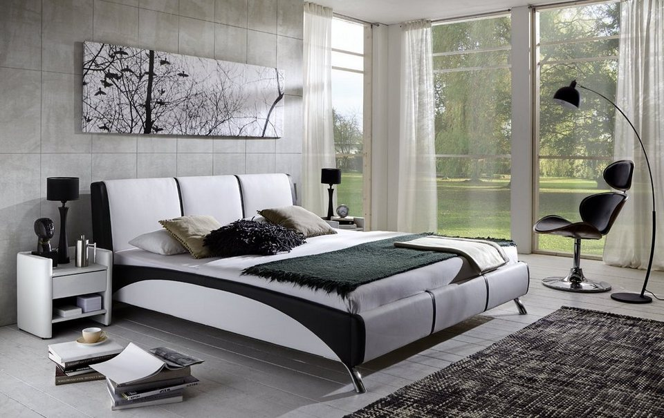 salesfever polsterbett aus kunstleder fuma otto. Black Bedroom Furniture Sets. Home Design Ideas