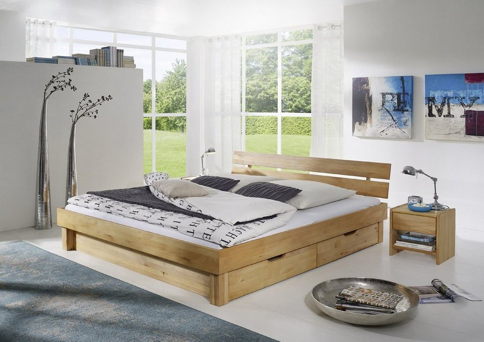 salesfever massivholzbett mit bettk sten clementes online kaufen otto. Black Bedroom Furniture Sets. Home Design Ideas