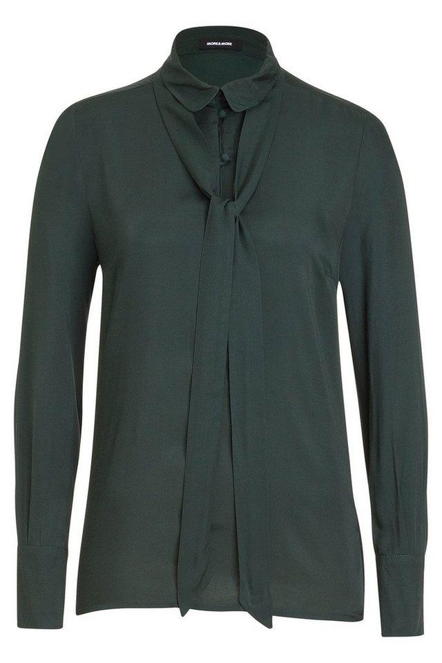 MORE&MORE Bluse mit Schluppe in grün