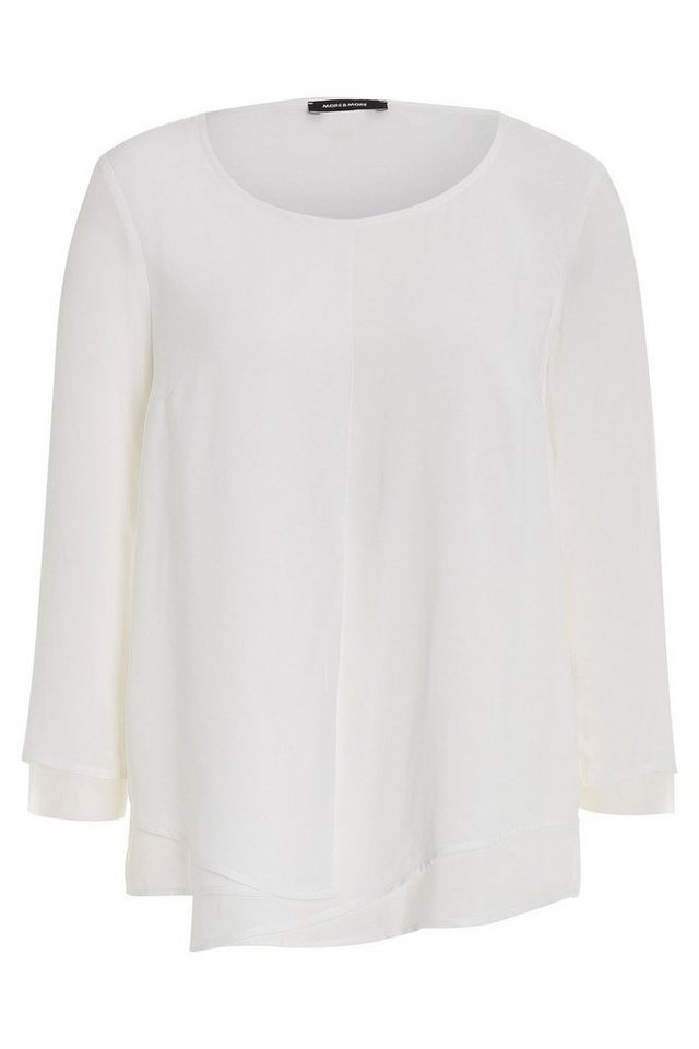 MORE&MORE Bluse, Layer-Look in ecru