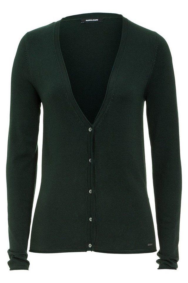 MORE&MORE Basic Cardigan, dunkelgrün in grün