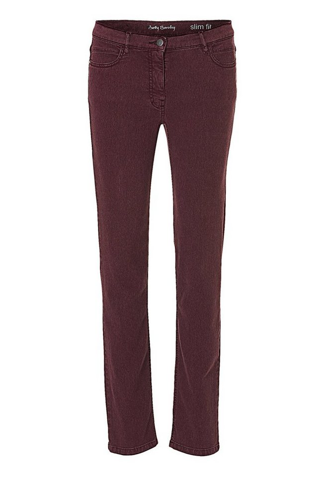 Betty Barclay Hose in Dark Aubergine - Rot