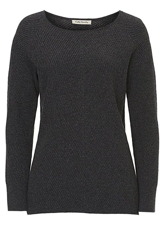 Betty Barclay Strickpullover in Dunkelgrau - Grau