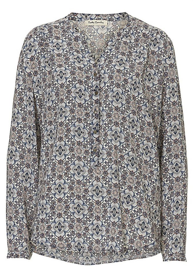 Betty Barclay Bluse in Blue/Rosé - Bunt