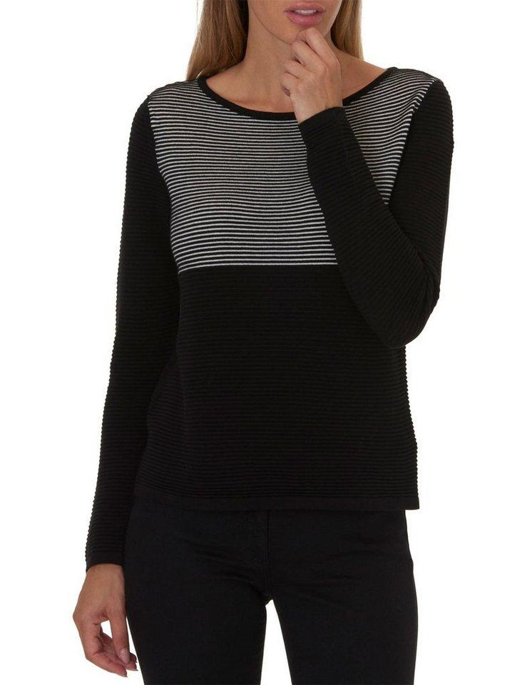 Betty Barclay Strickpullover in Schwarz/Weiß - Grau