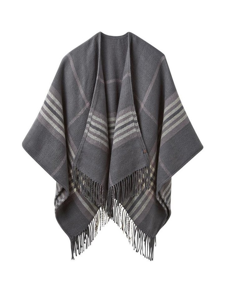 Tom Joule Poncho »INNIS« in Black Check
