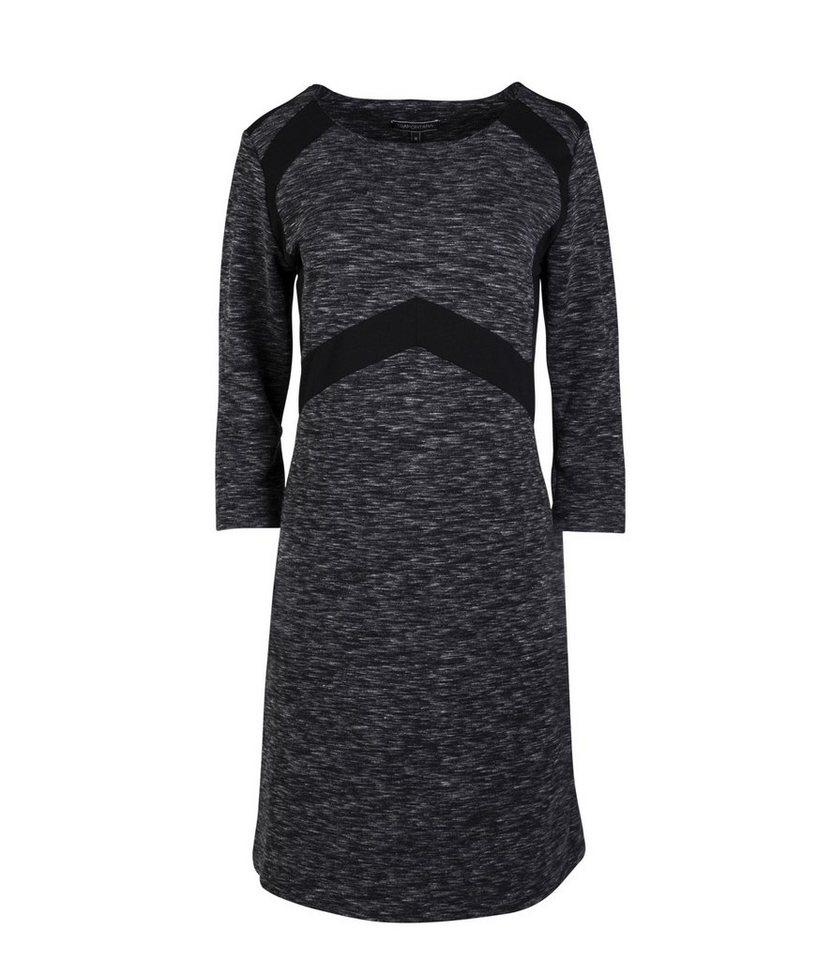Tramontana Kleid in Dark Grey Melange