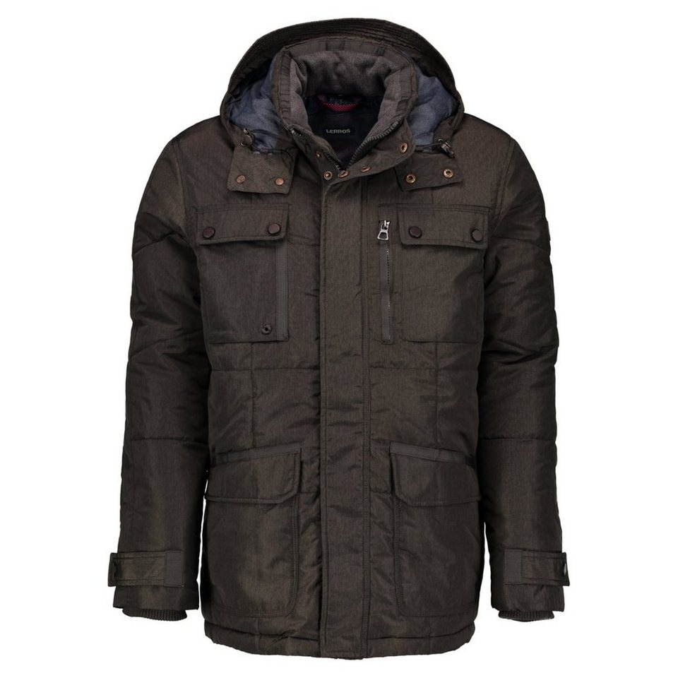 LERROS LERROS Steppjacke mit Kapuze in DARK BROWN