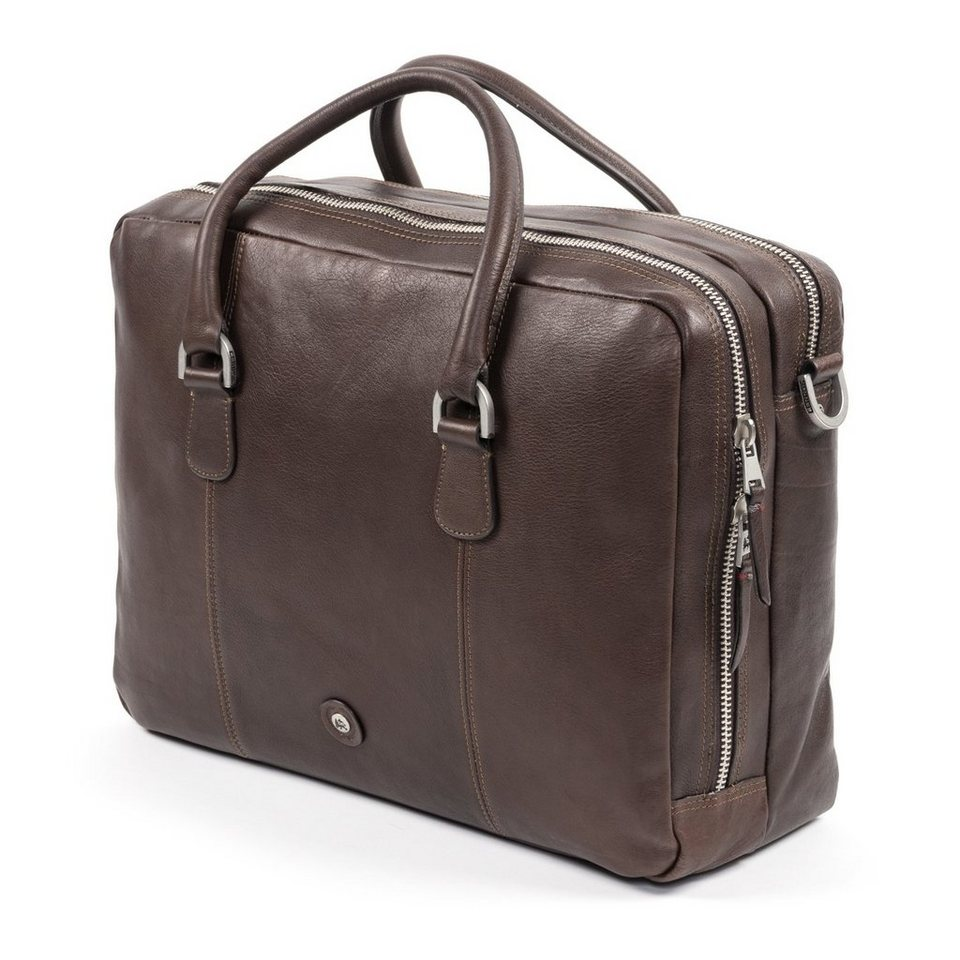 LERROS LERROS Ledertasche 'ADAM' in DARK BROWN