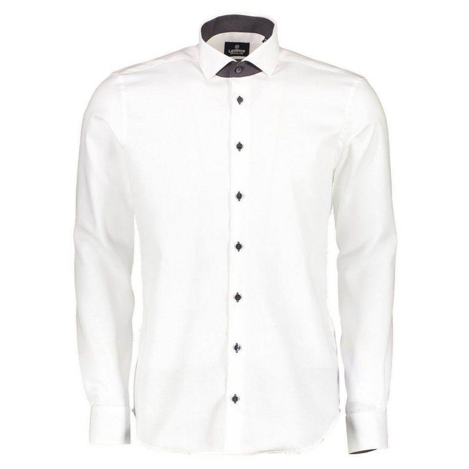 LERROS PREMIUM Jaquard-Hemd in WHITE