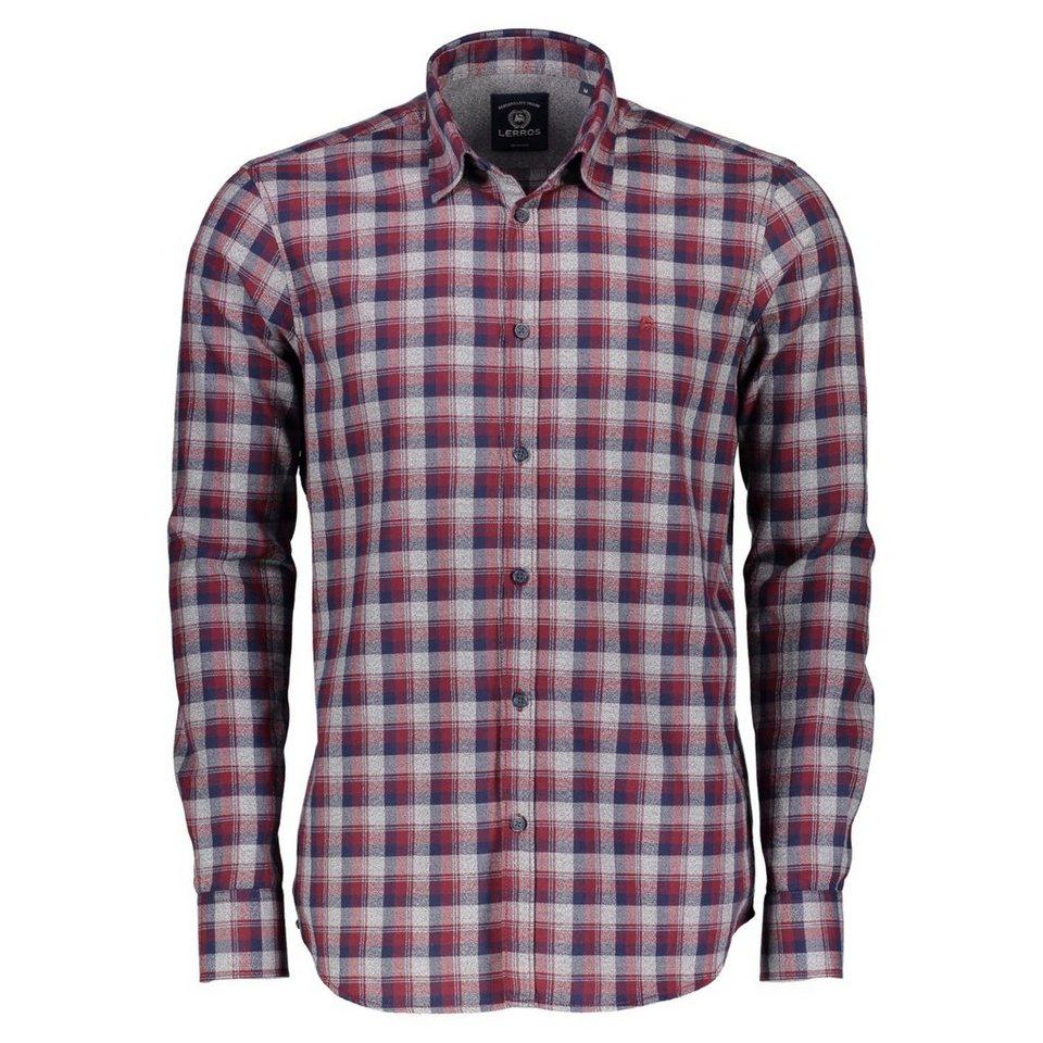 LERROS Hemd mit gewebtem Karo in RED