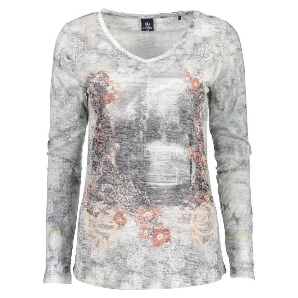 LERROS LERROS Langarmshirt mit modischem Print in LIGHT GREY