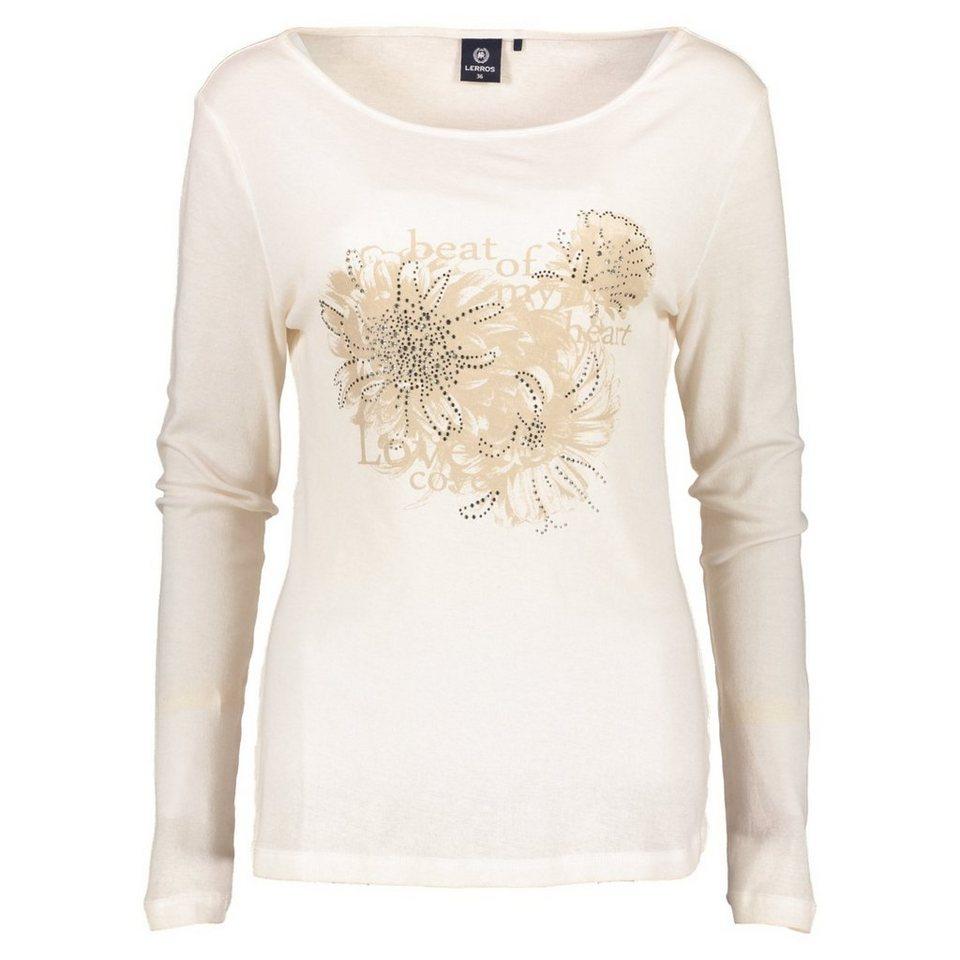 LERROS LERROS Langarmshirt mit trendigem Print in PINK CHAMPAGNE