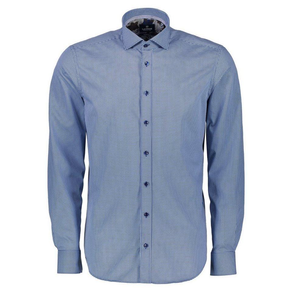 LERROS Premium Hemd mit Karo-Print in LIGHT SKY BLUE