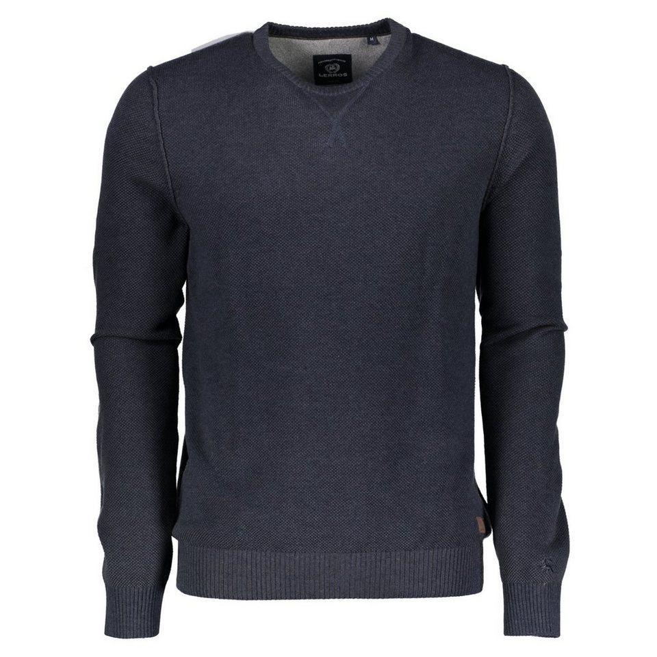 LERROS Langarm Stricksweater in DARK NAVY