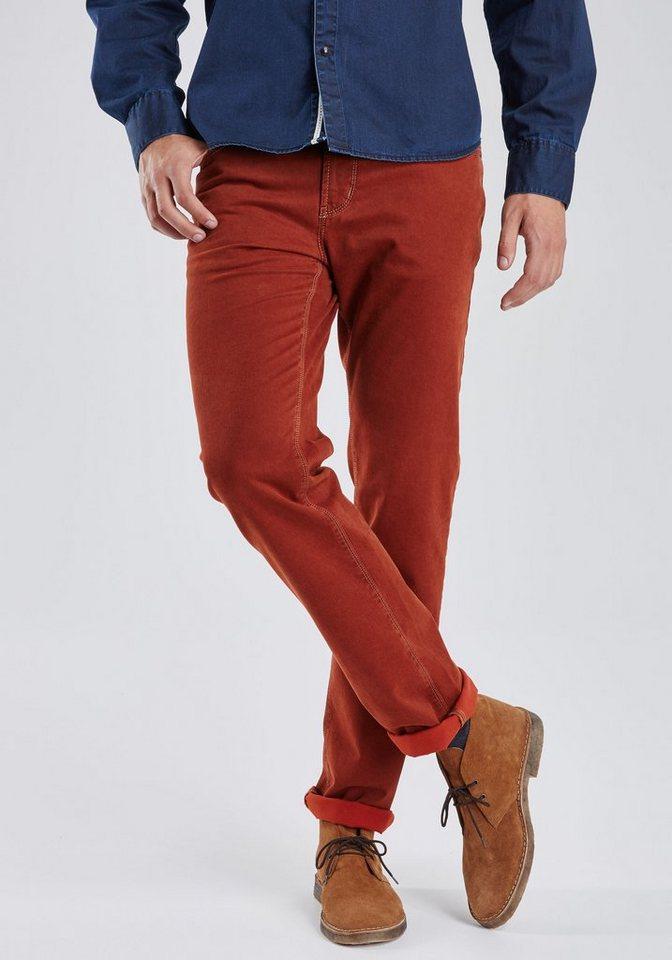 PIONEER Megaflex Jeans »RANDO« in rot