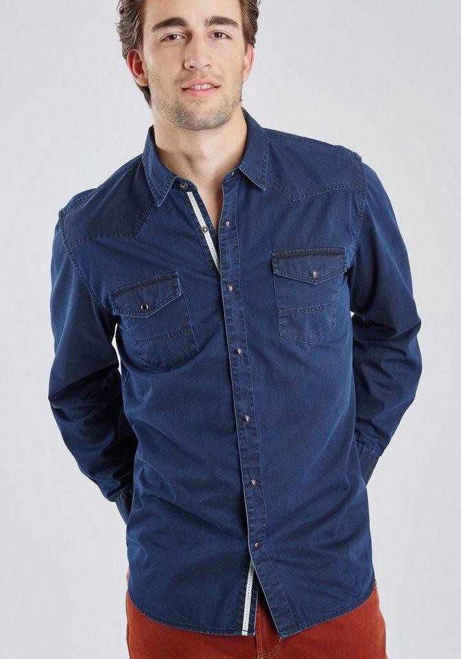 PIONEER Hemd in dunkelblau