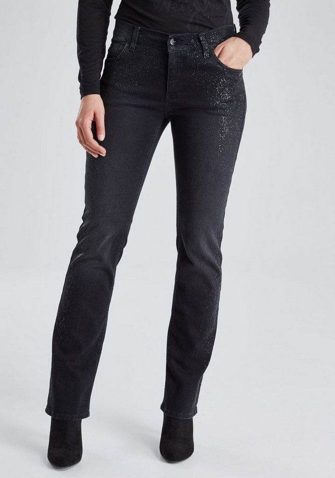 PIONEER Jeans »LUNA« in black denim