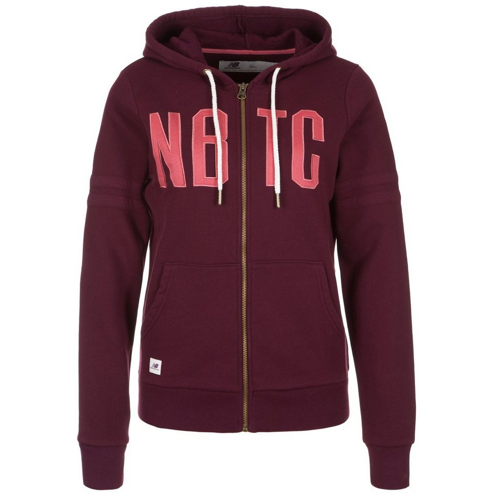 NEW BALANCE NBTC Kapuzenjacke Damen in bordeaux / pink