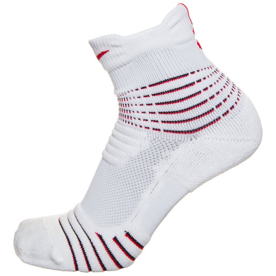 NIKE Elite Versatility Mid Basketballsocken in weiß / rot