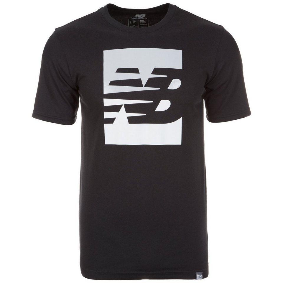 NEW BALANCE Split Sport Style T-Shirt Herren in schwarz / weiß