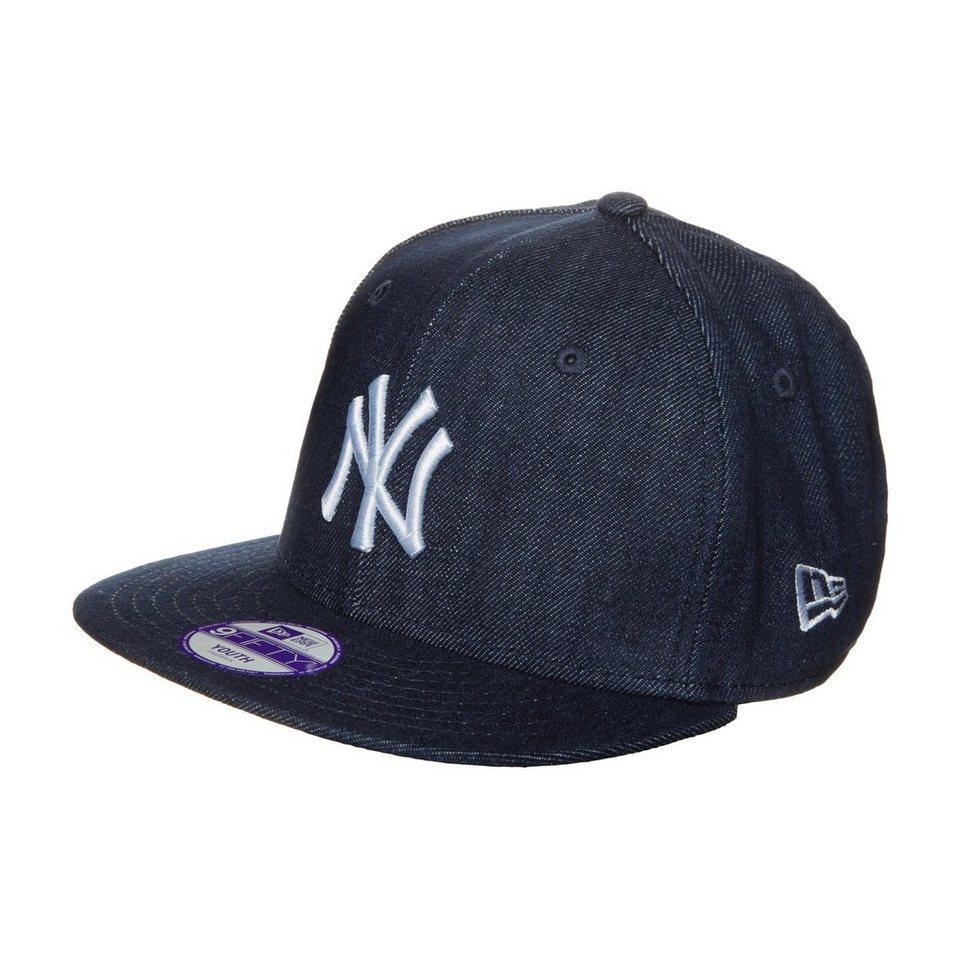 New Era 9FIFTY Denim Basic New York Yankees Cap Kinder in dunkelblau / weiß