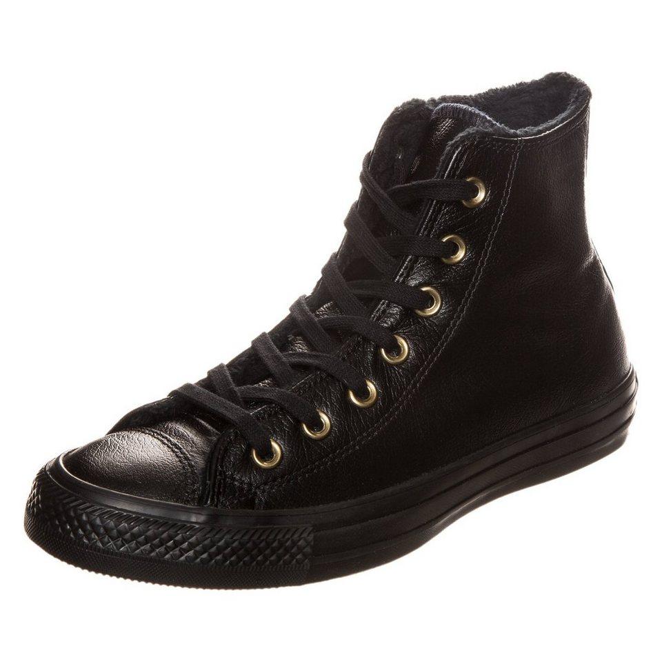 CONVERSE Chuck Taylor All Star Leather High Sneaker Damen in schwarz