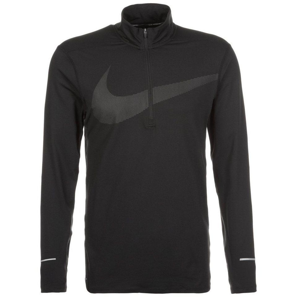 NIKE Dry Element GX Laufshirt Herren in schwarz / silber