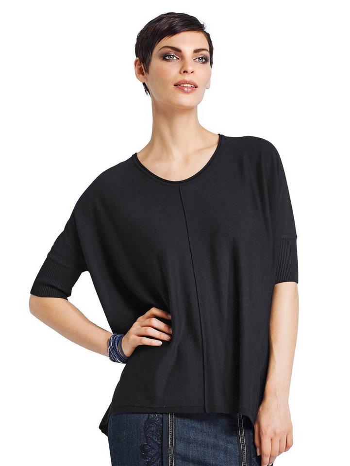 Alba Moda Oversized-Pullover in schwarz