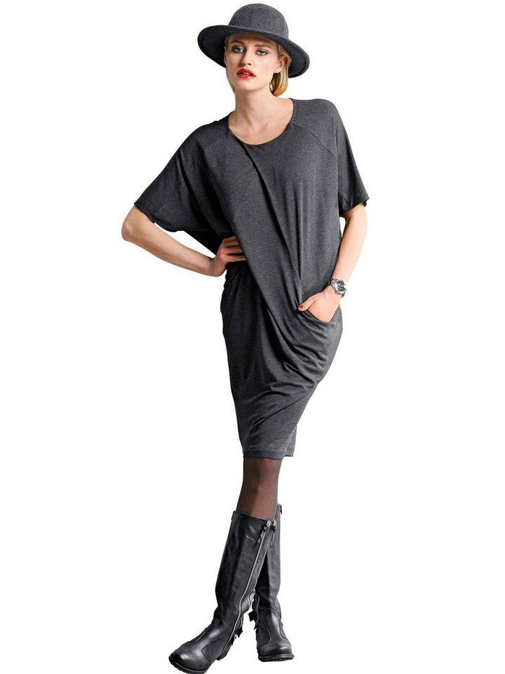 Alba Moda Jerseykleid in anthrazit