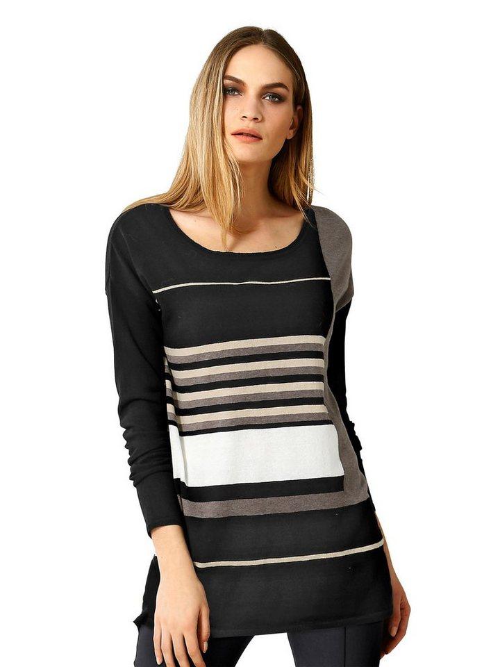 Alba Moda Pullover in schwarz/taupe