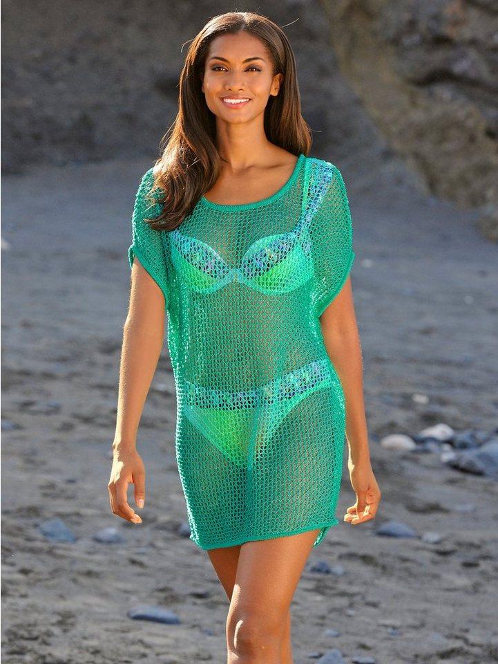 Alba Moda Netzpullover in grün