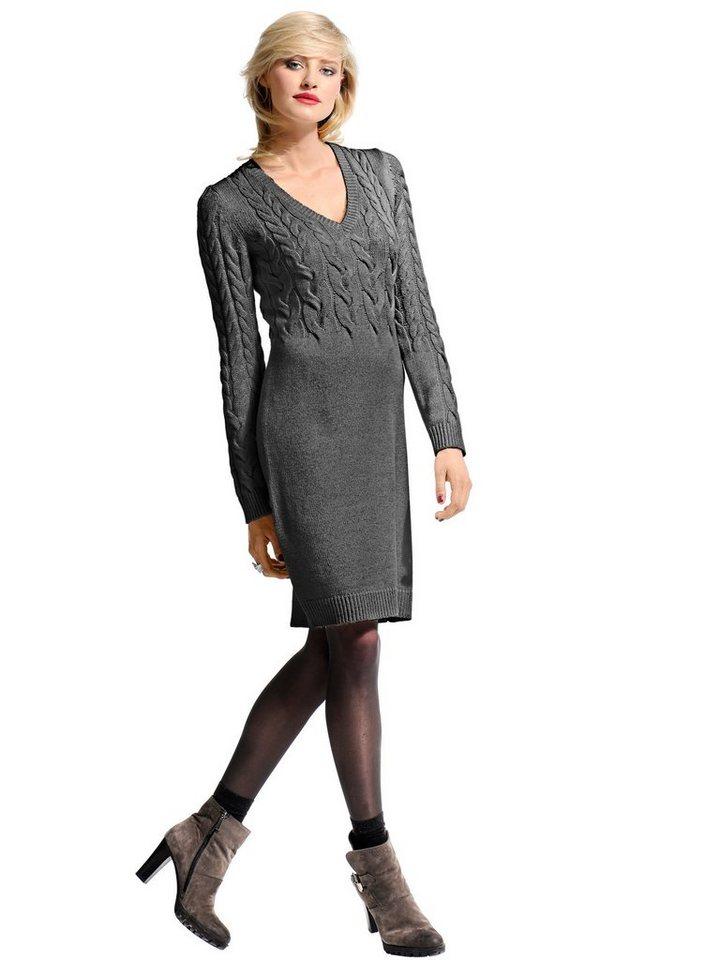 Alba Moda Strickkleid in graumelange