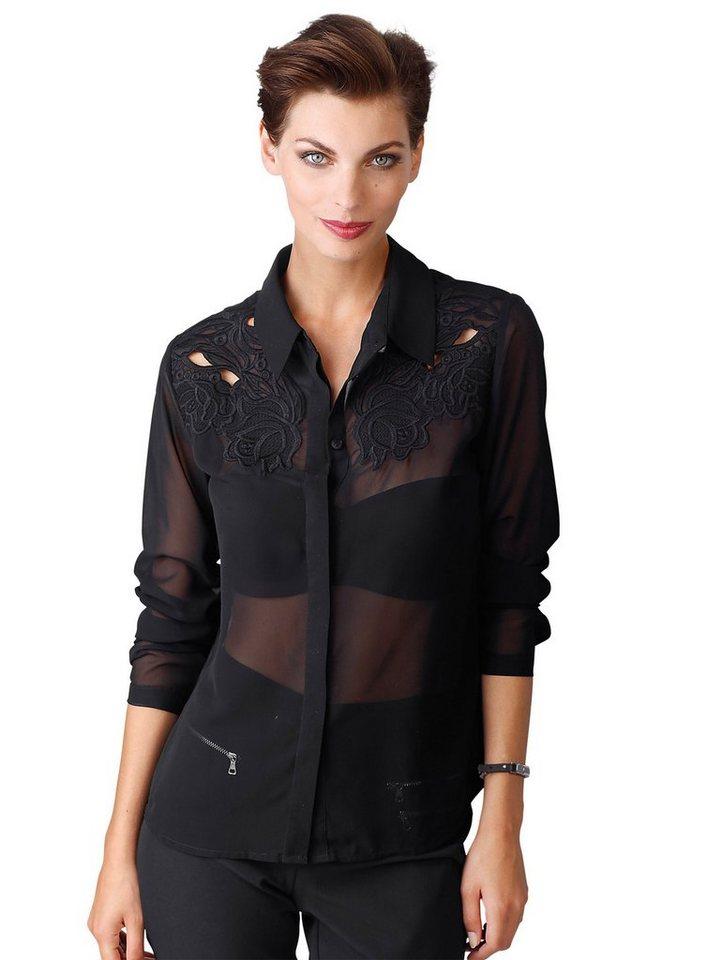 Alba Moda Hemdbluse in schwarz