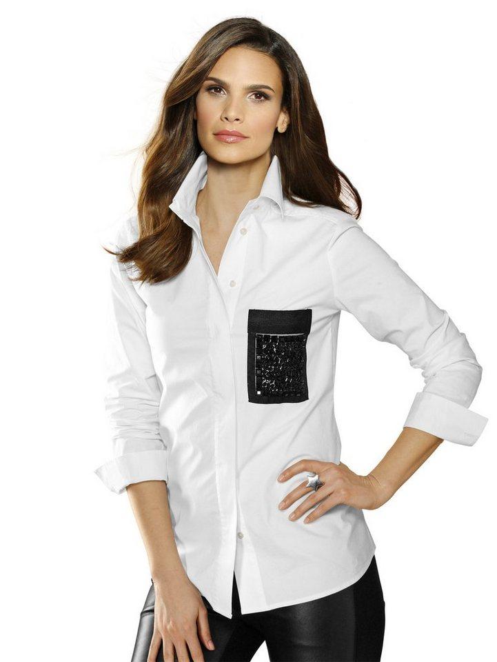 Alba Moda Hemdbluse in weiß