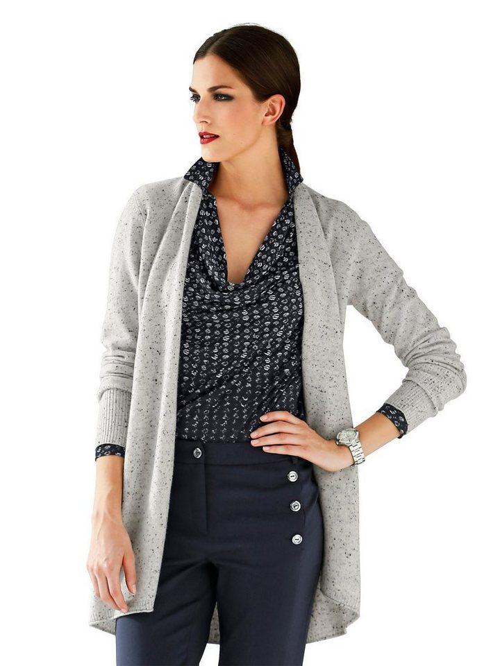 Alba Moda Oversized-Strickjack in greymelange