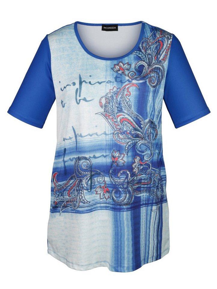 MIAMODA Shirt mit Paisleydruck in blue printed/royal