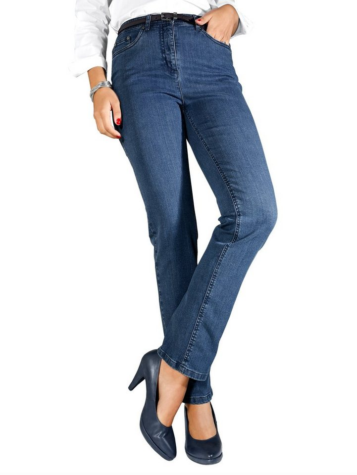MIAMODA Jeans in Straight Fit in blue stone