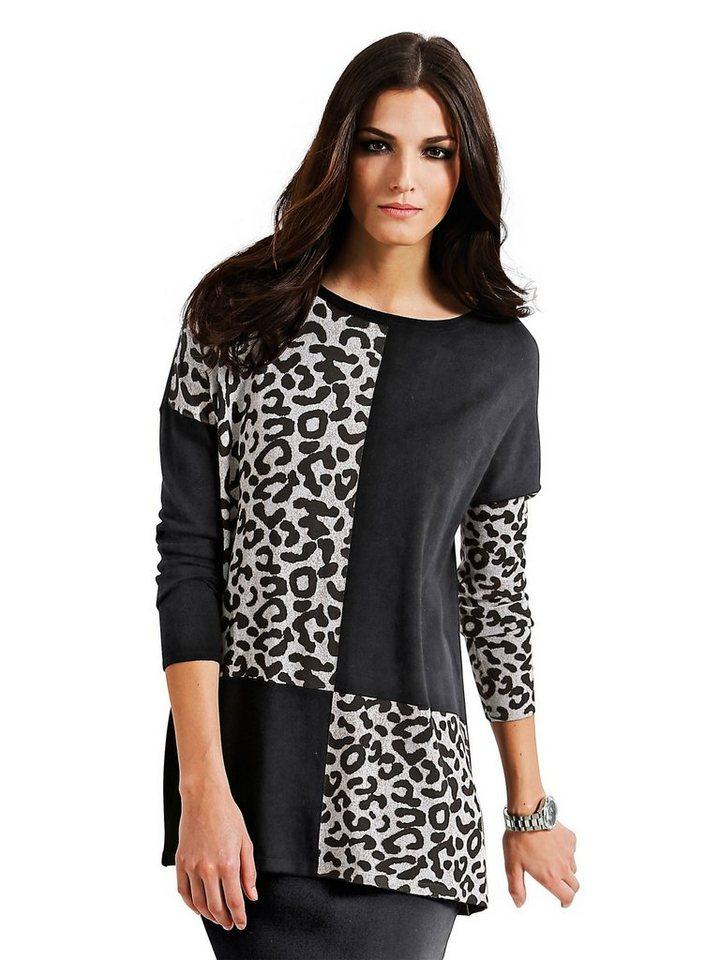 Alba Moda Pullover in schwarz/multi