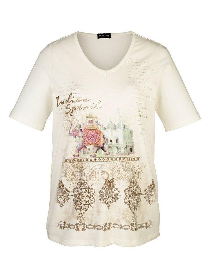 MIAMODA Shirt mit orientalischem Druckmotiv in offwhite bedruckt