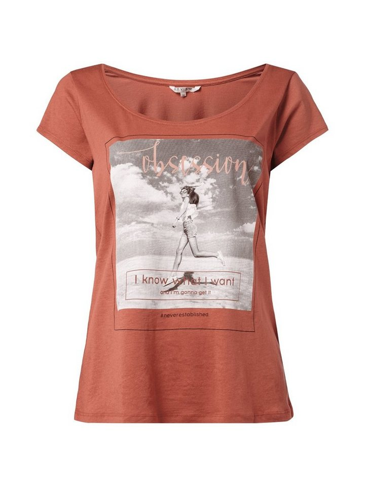 REVIEW T-Shirt in rostrot