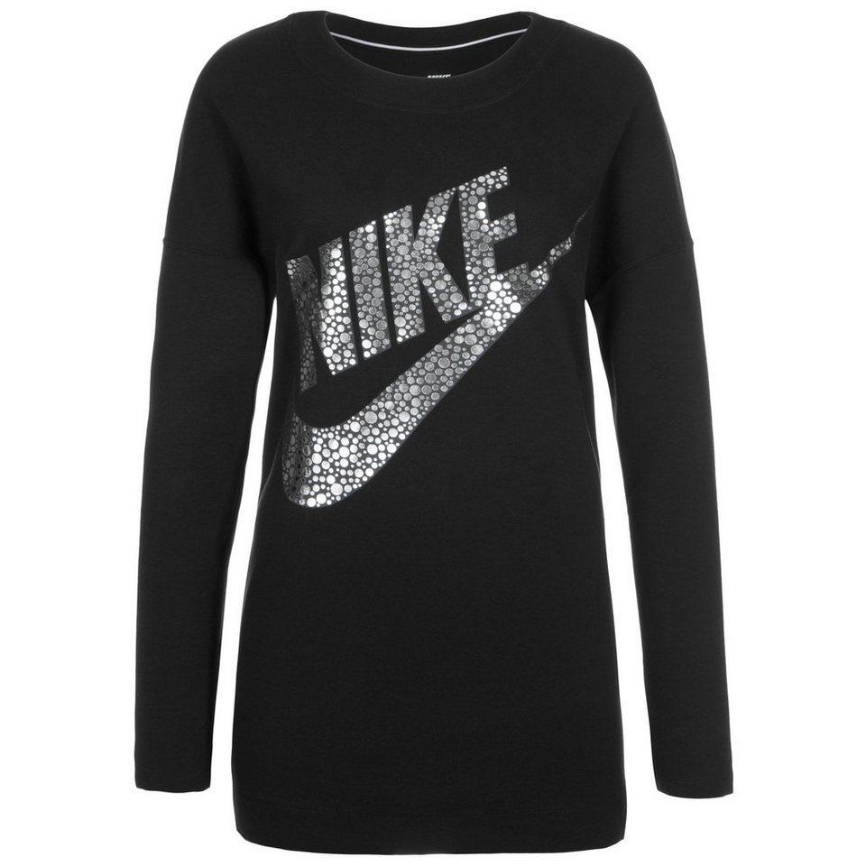 Nike Sportswear Sportswear Sweatshirt Damen in schwarz / silber