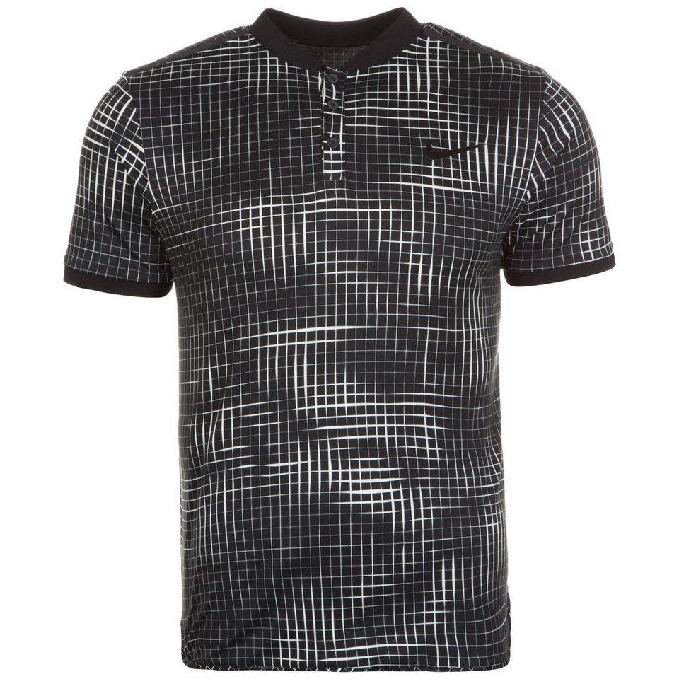 NIKE Court Advantage Premier Tennispolo Herren in schwarz / weiß
